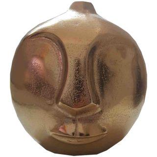 Vase Gesicht Moai goldfarben 20cm