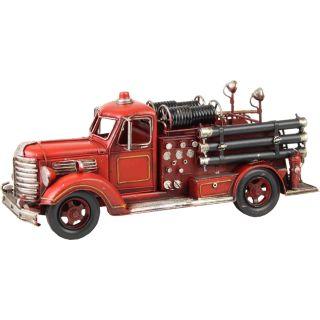 Dekoratives Zinkmodell Feuerwehrwagen Spritzenwagen