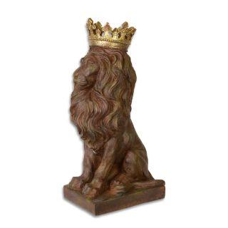 Resinskulptur gekrönter Löwe XL