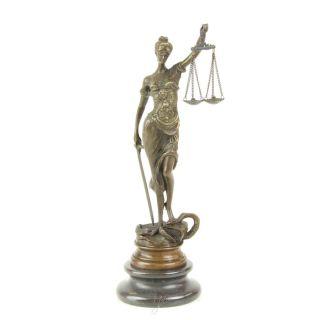 Bronze Skulptur Justitia 23 cm