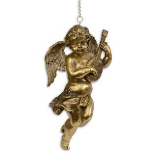 Goldfarbener Engel mit Banjo