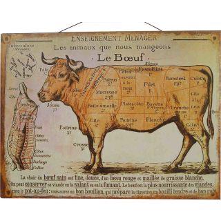 Metallschild  Le Boeuf 25x33cm