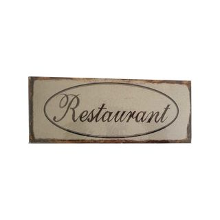 Metallschild Restaurant