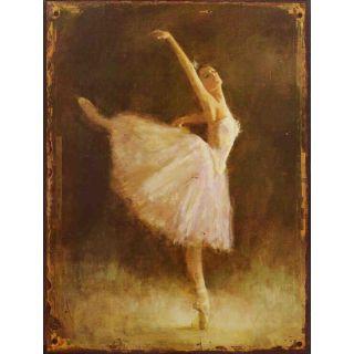 Metallschild Ballerina