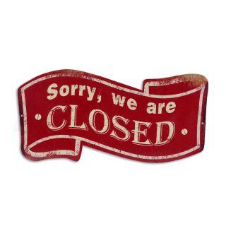 Metallschild Sorry, we are closed
