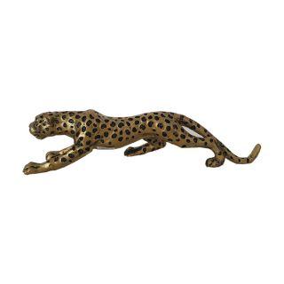 Schleichender Gepard goldfarben 32 cm