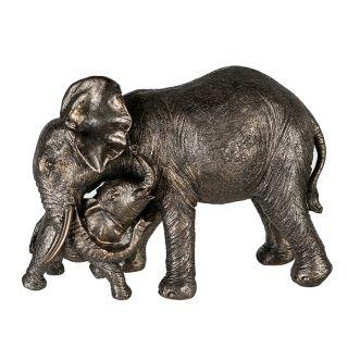 "Elefant ""Zambezi"" mit Jungem graugold"