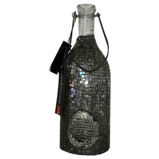 Windlicht in Flaschenform mit Mosaik Steine 31cm