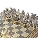 Bronze Schach Set Sparta Krieger Gold-/Silberfarben