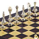 Bronze Schach Set Staunton Braun Gold-/Silberfarben