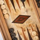 Backgammon Lupo Wurzelholz Einlage