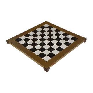 Schachbrett 36 cm Goldfarben schwarz-weiß