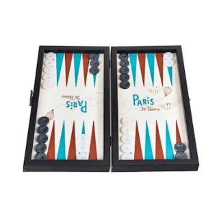 Backgammon Paris Design Reisegröße 30 x 17 cm