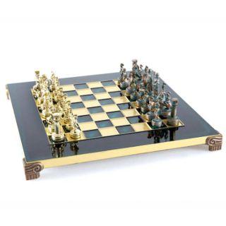 Schachspiel Set Griechisch-Römisch grün 28 cm