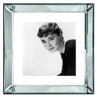 Spiegelrahmen Bild Audrey Hepburn 50x50cm