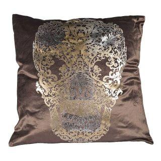 Kissen Skull Taupe 50 cm