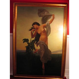 Abendstimmung  Ölgemälde auf Leinwand ca. 198x138 cm